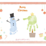 12月21日(土)東急ハンズ池袋店3Fヒントスタジオにてクリスマス手形足形アート作り|東京港区petapeta-artインストラクターMinato.