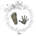 手形アート無料台紙テンプレートダウンロード|お花リースデザイン