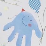手形アートで象をデザイン|親子、家族で作る記念日の思い出に